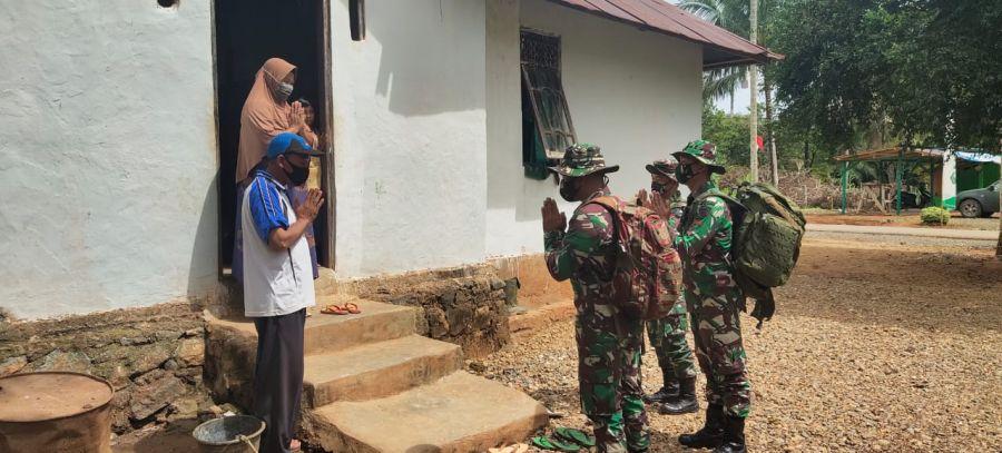 Berakhir Personel Satgas TMMD Kembali Ke Induk Pasukan