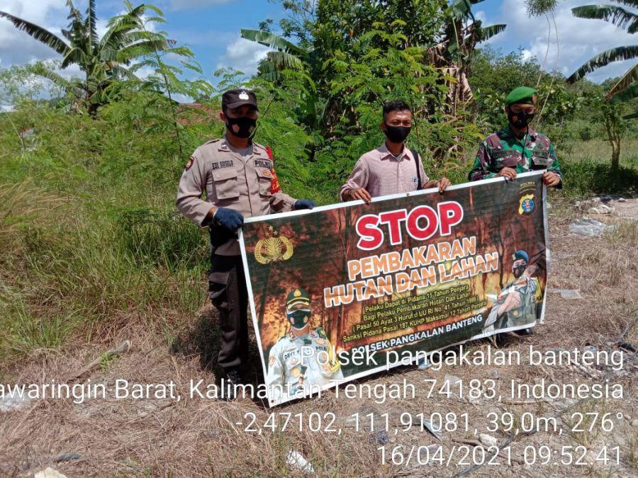 Piket SPKT Aipda Abd Rokhman  Lakukan Himbauan Larangan karhutla di Desa Arga Mulya