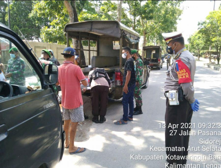 Polres -TNI dan Satpol PP Kab. Kobar Laksanakan ops Yustisi Masker