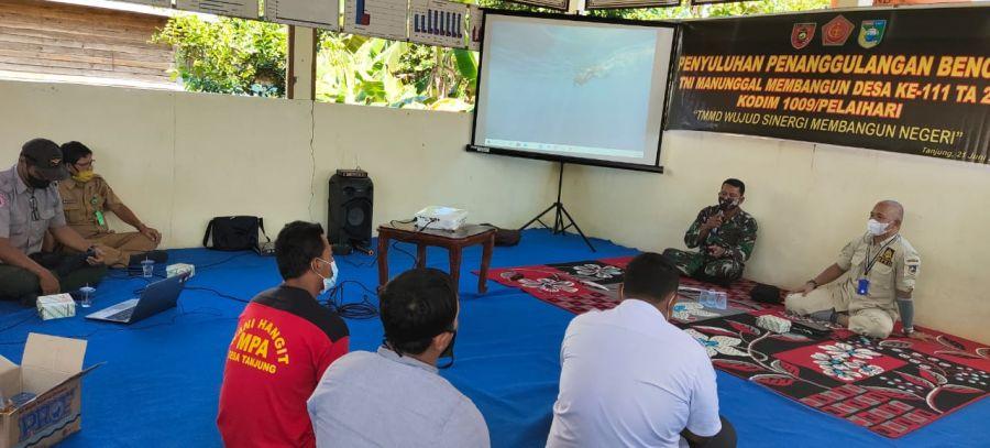 TMMD Ke-111 BPBD Berikan Penyuluhan Kepada Masyarakat Riam Pinang