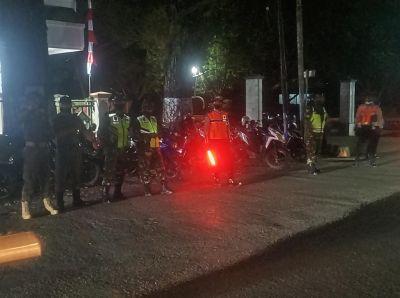Aparat Gabungan HST Lakukan Patroli Bersama