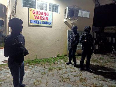 CRT Banteng Satreskrim Polres Kobar Patroli sambang Gudang Vaksin