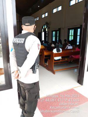 Kelurahan Cadi Lakukan Pengamanan serta Himbauan di Gereja Imanuel dijalan Marundau