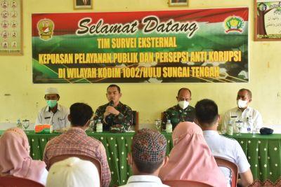 Kunjungan Kerja Tim Survei Eksternal Kepuasan Pelayanan Publik dan Persepsi Anti Korupsi TNI AD