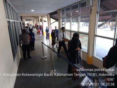 laksanakan penyekatan larangan mudik di Bandara