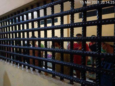 Pawas bersama Piket Propam cek Tahanan di Rutan