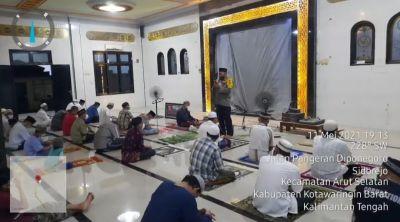pengamanan Ibadah Sholat Tarawih terakhir di Masjid-masjid