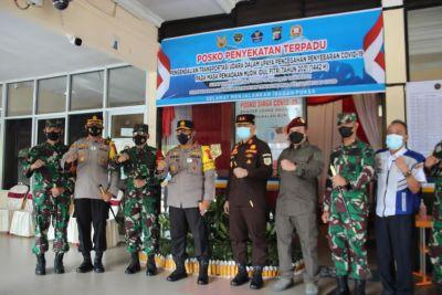 penyekatan larangan mudik di Bandara Iskandar P.Bun