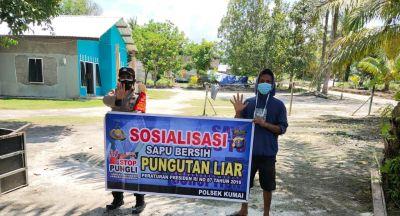 Polsek Kumai Terus Ajak Masyarakat Untuk Tolak Praktik (Pungli)