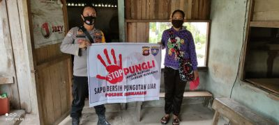 Pungli dan Korupsi, Bhabinkamtibmas Tetap Bersama Warganya Tuntaskannya
