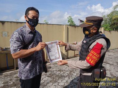 TNI-POLRI Cegah Karhutla Melalui Imbauan Maklumat Kapolda Kalteng Ke Warga