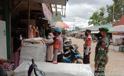 TNI-Polri Dan Trantib Kecamatan Pangkalan Banteng Rutin Laksanakan Operasi Yustisi dengan prokes